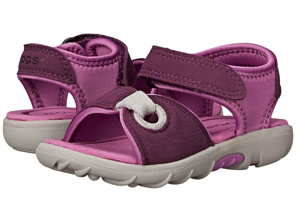 Bogs Kids - Yukon Sandal (Toddler/Little Kid) (Purple Multi) Girls Shoes