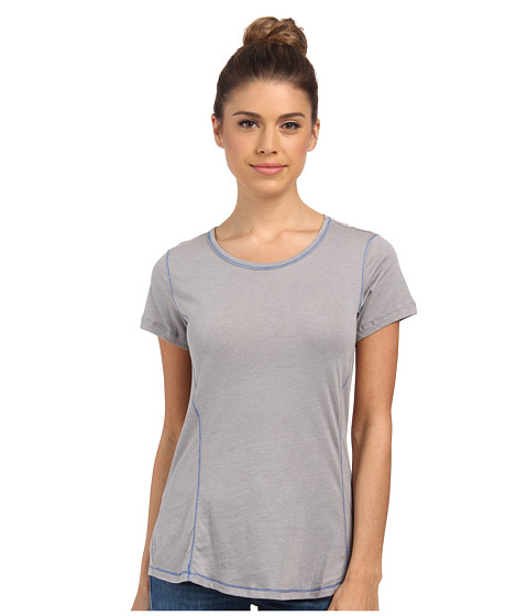 Columbia - Everything She Needs Crew Neck Tee (Light Grey Heather) Women's T Shirt