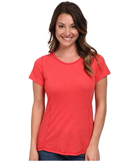 Columbia - Everything She Needs Crew Neck Tee (Red Hibiscus Heather) Women's T Shirt