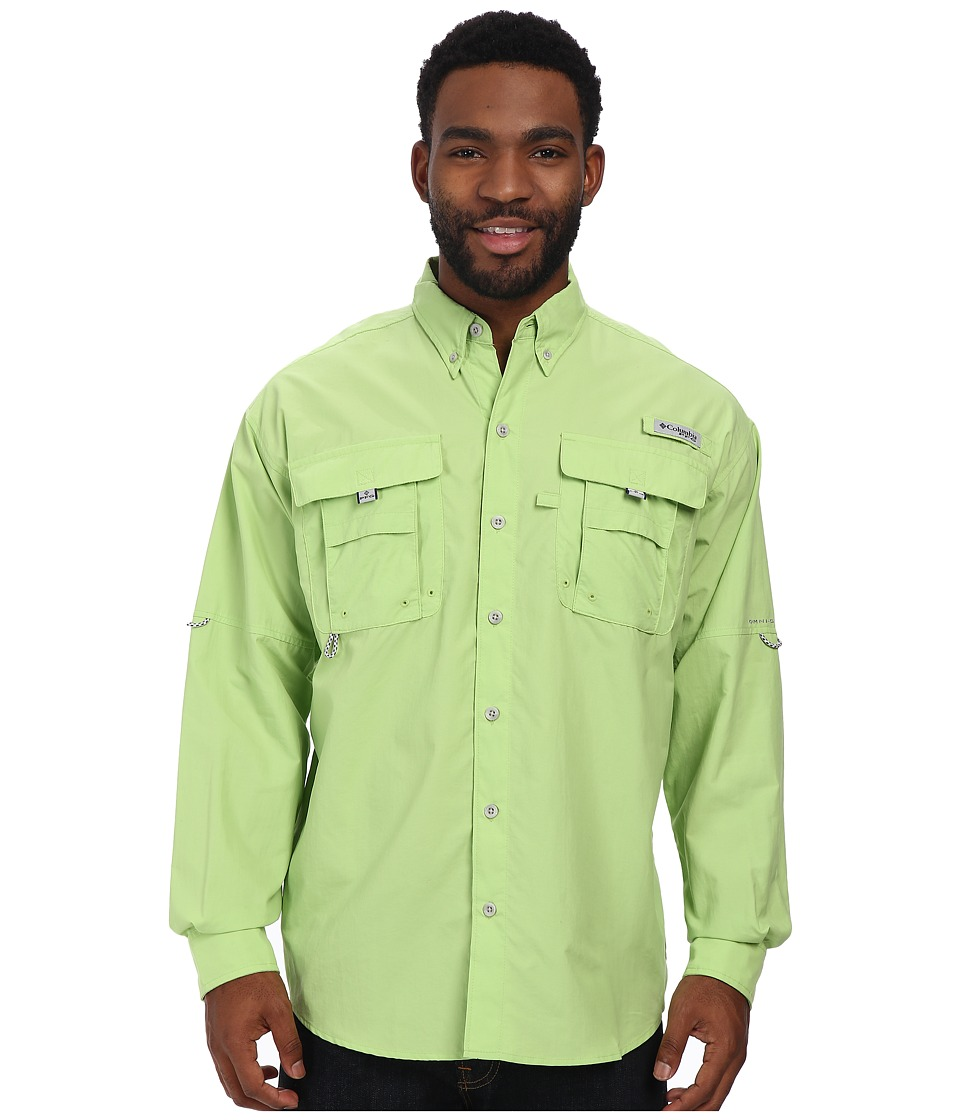 Columbia - Bahama II Long Sleeve Shirt (Jade Lime) Men's Long Sleeve Button Up