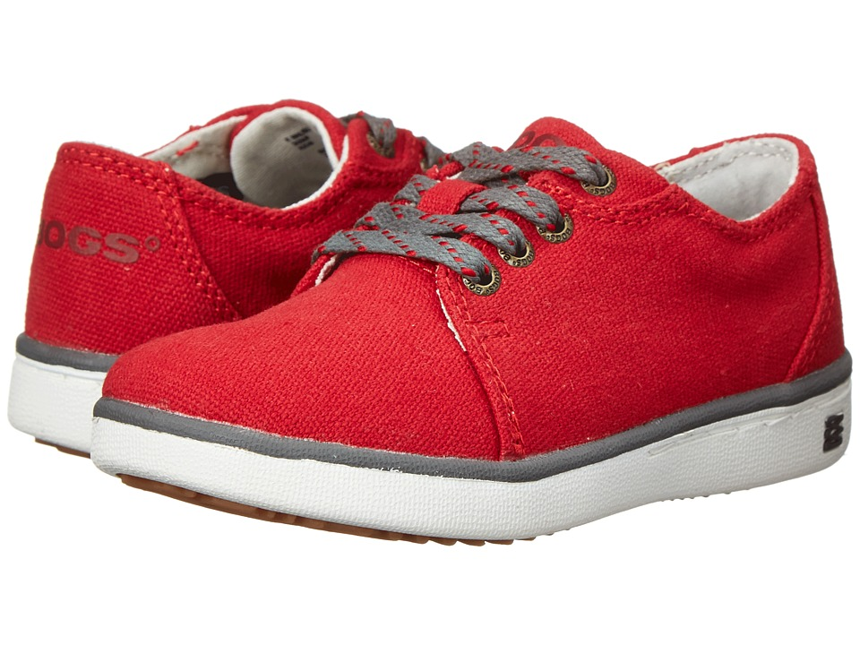 Bogs Kids - Malibu Canvas Lace (Toddler/Little Kid) (Red) Kids Shoes