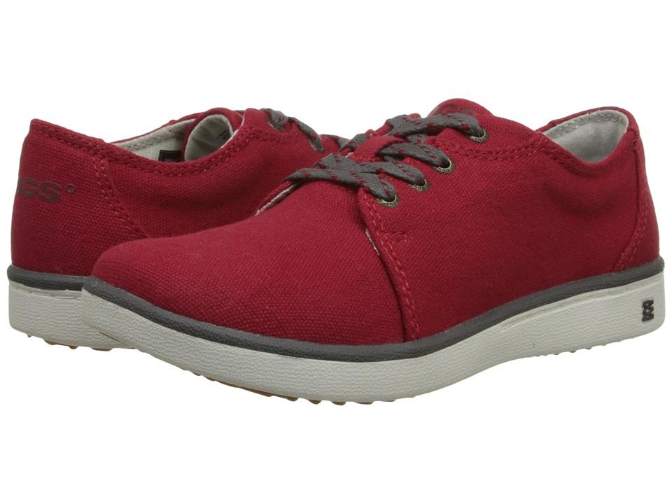Bogs Kids - Malibu Canvas Lace (Little Kid/Big Kid) (Red) Kids Shoes