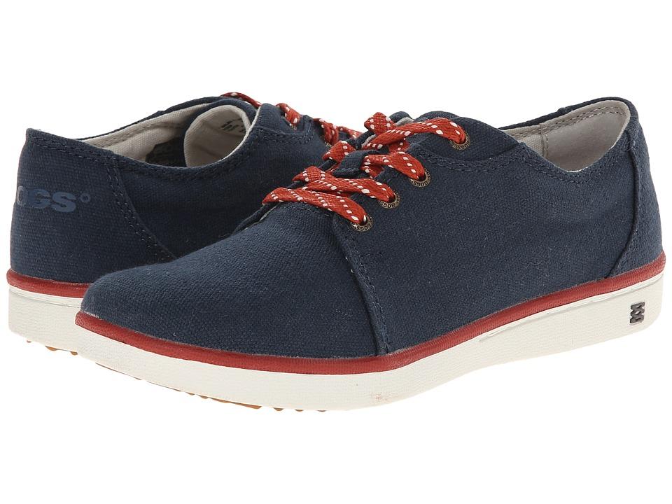 Bogs Kids - Malibu Canvas Lace (Little Kid/Big Kid) (Navy) Kids Shoes