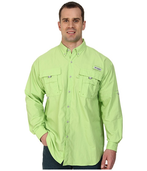 Columbia - Bahama II Long Sleeve Shirt - Extended (Jade Lime) Men's Long Sleeve Button Up