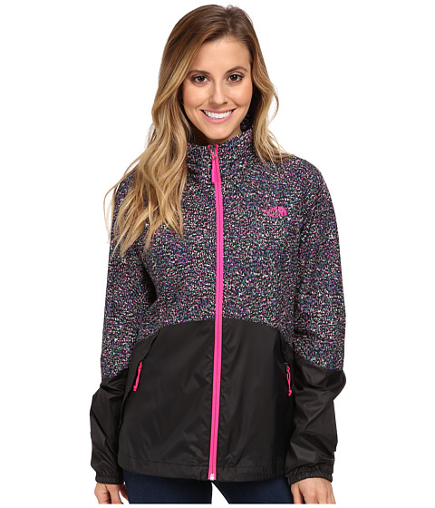 The North Face - Flyweight Jacket (TNF Black Confetti Print/TNF Black) Women