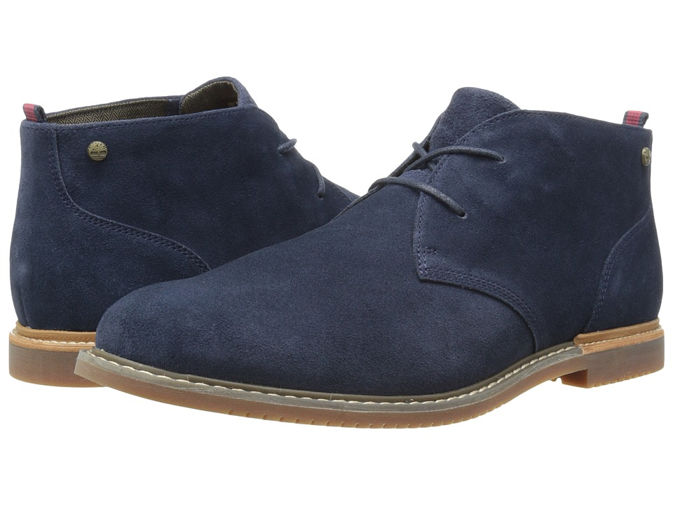 Timberland - Earthkeepers(r) Brook Park Chukka (Navy Suede) Men's Lace-up Boots