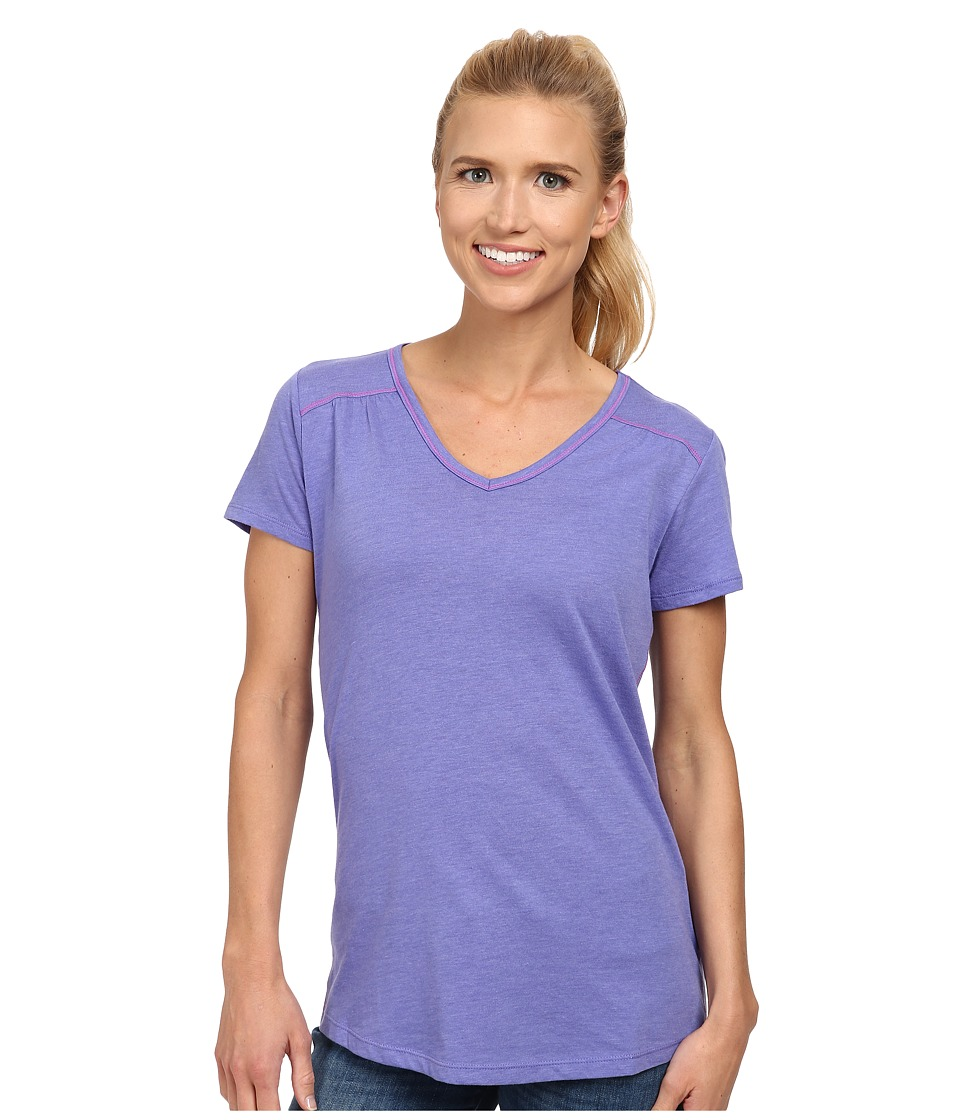 Columbia - Everything She Needs V-Neck Tee (Purple Lotus Heather) Women