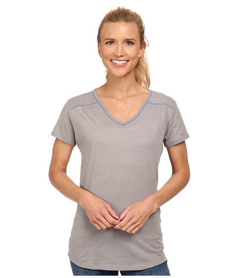 Columbia - Everything She Needs V-Neck Tee (Light Grey Heather) Women