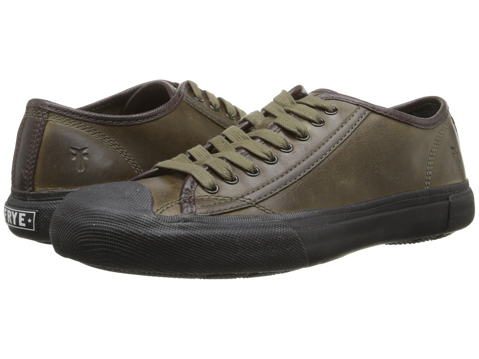Frye - Ryan Low Lace (Olive Antique Pull Up) Men's Lace up casual Shoes