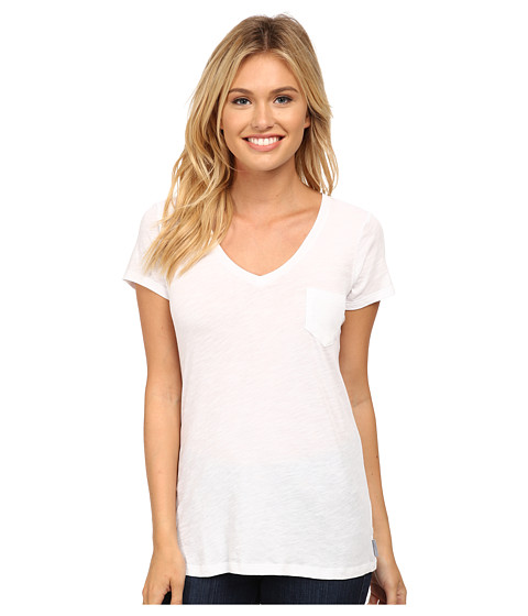 Columbia - Everyday Kenzie V-Neck Tee (White) Women's T Shirt