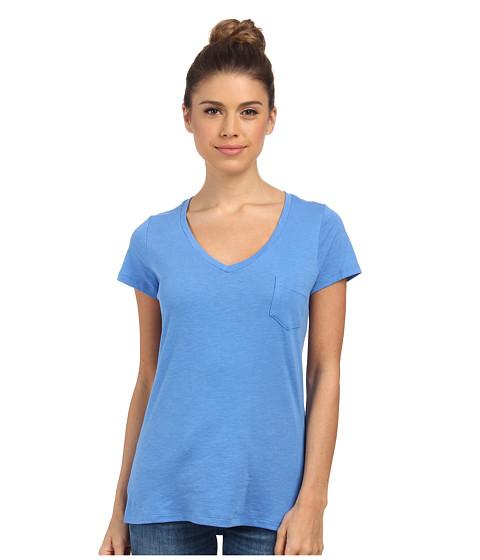 Columbia - Everyday Kenzie V-Neck Tee (Harbor Blue) Women