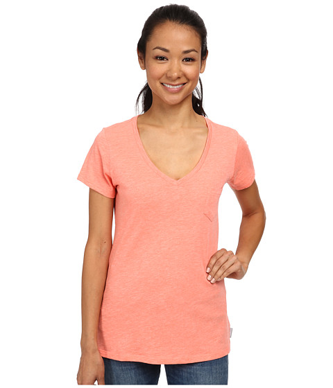 Columbia - Everyday Kenzie V-Neck Tee (Coral Flame Heather) Women's T Shirt