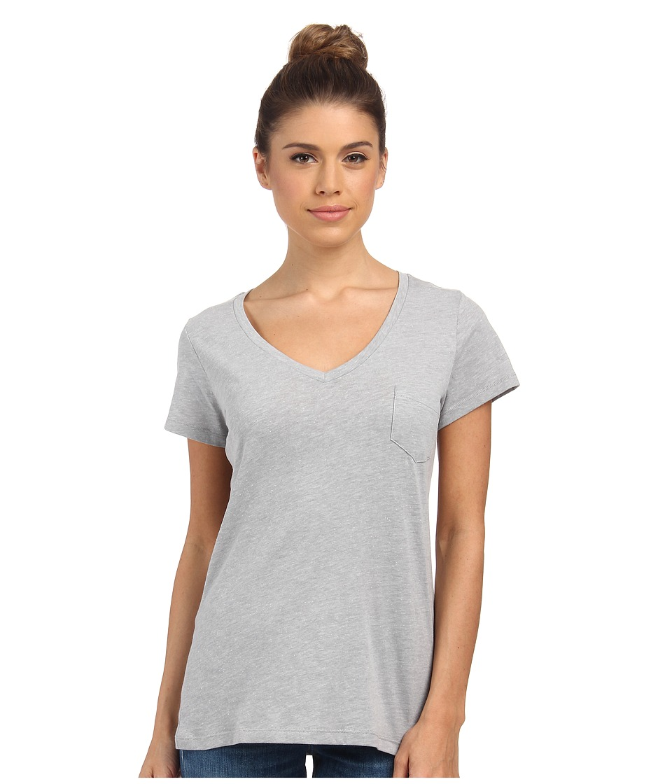 Columbia - Everyday Kenzie V-Neck Tee (Light Grey Heather) Women's Short Sleeve Pullover