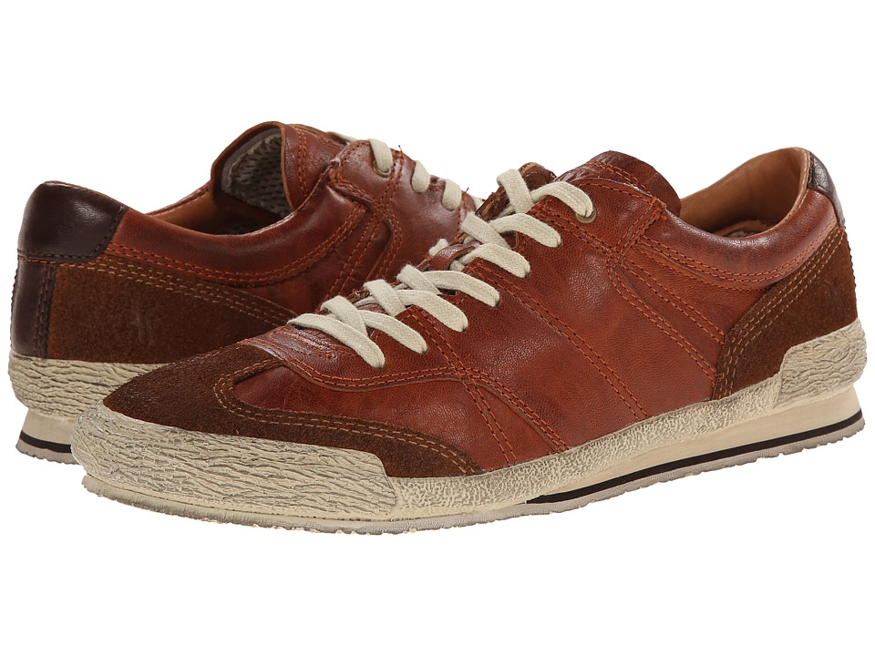 Frye - Snyder Runner (Cognac Antique Soft Vintage Full Grain) Men's Lace up casual Shoes