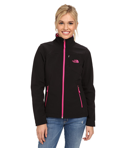 The North Face - Apex Bionic Jacket (TNF Black/Glo Pink) Women's Coat