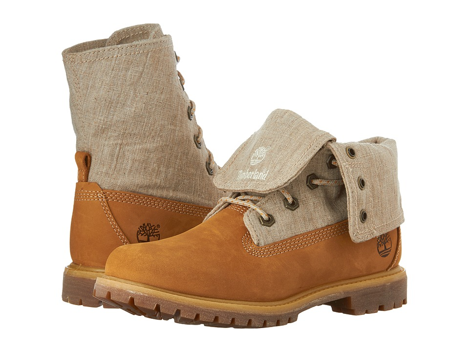 Timberland - Earthkeepers Timberland Authentics Canvas Fold Down (Wheat Nubuck) Women's Boots
