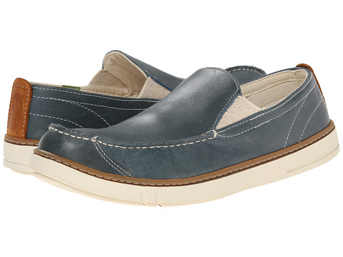 Timberland - Earthkeepers Hookset Handcrafted Leather Slip-On (Blue Full Grain) Men's Shoes