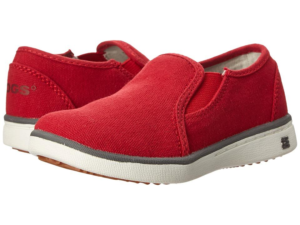 Bogs Kids - Malibu Canvas Slip-On (Toddler/Little Kid) (Red) Kids Shoes