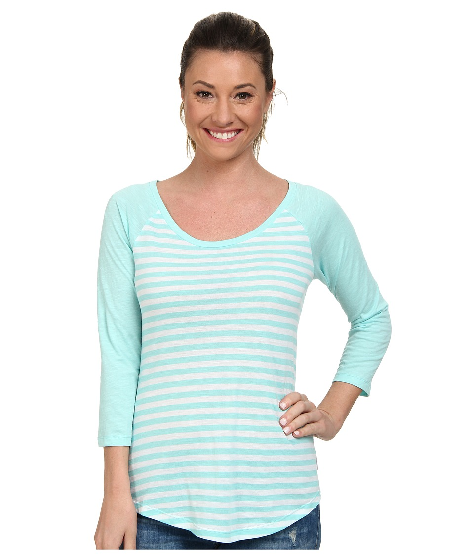 Columbia - Everyday Kenzie 3/4 Sleeve Tee (Candy Mint Stripe) Women's T Shirt