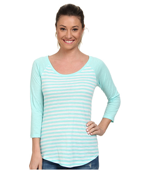 Columbia - Everyday Kenzie 3/4 Sleeve Tee (Candy Mint Stripe) Women