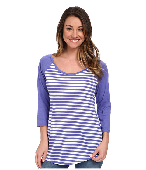 Columbia - Everyday Kenzie 3/4 Sleeve Tee (Purple Lotus Stripe) Women's T Shirt