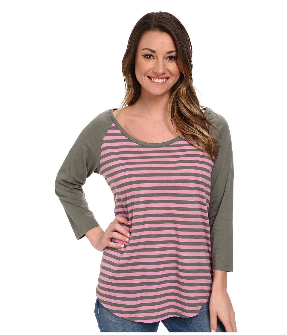 Columbia - Everyday Kenzie 3/4 Sleeve Tee (Cypress Stripe) Women