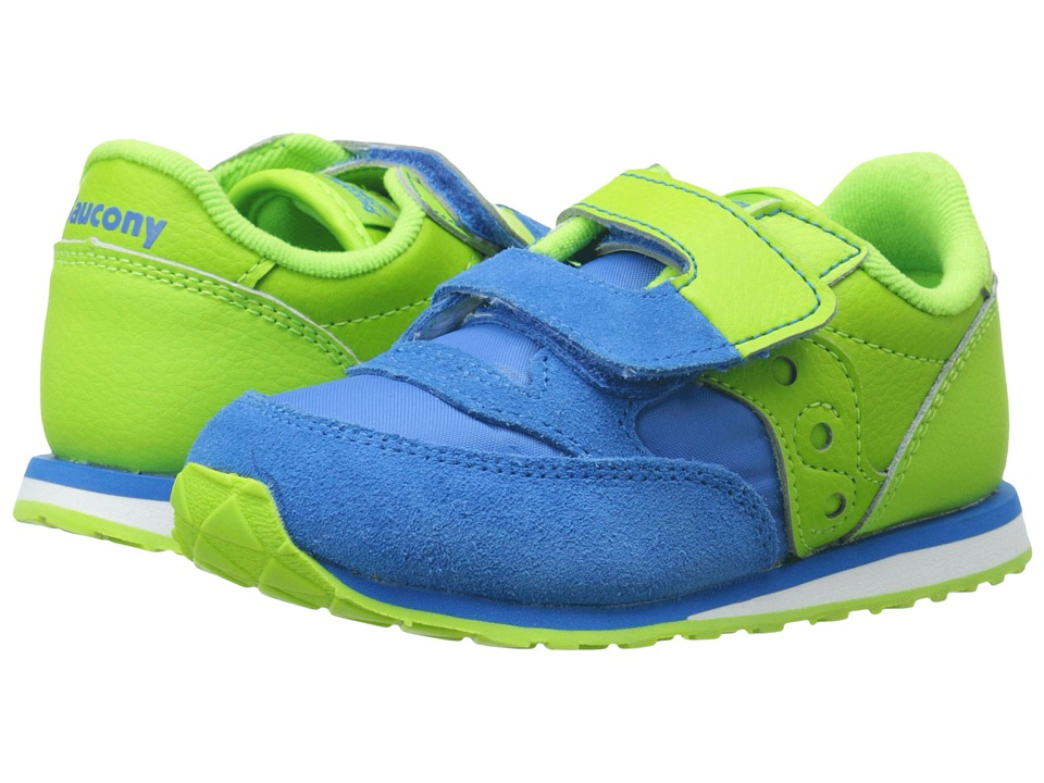Saucony Kids - Baby Jazz HL (Toddler/Little Kid) (Blue/Green) Boys Shoes