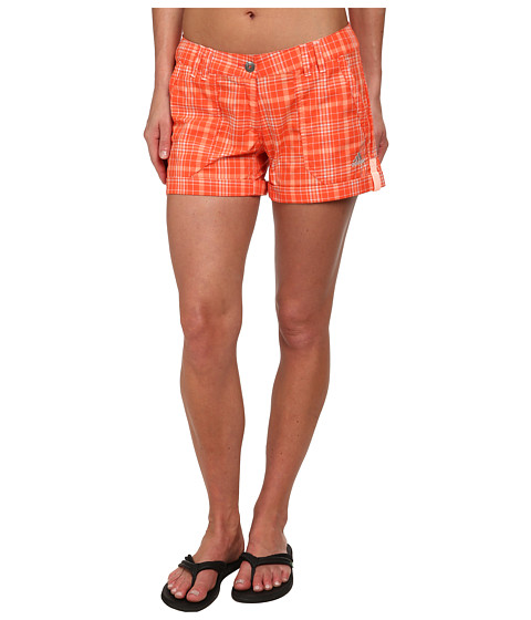 adidas Outdoor - EDO Check Shorts (Semi Solar Red) Women