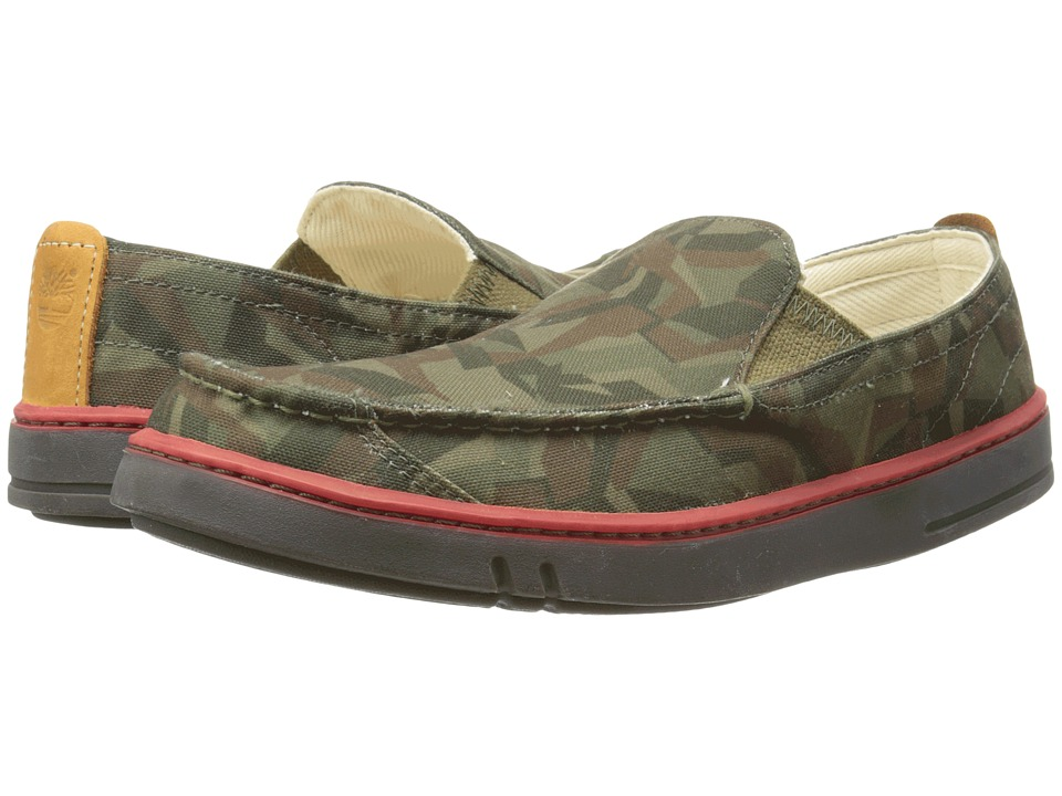 Timberland - Earthkeepers Hookset Handcrafted Fabric Slip-On (Camo Canvas) Men