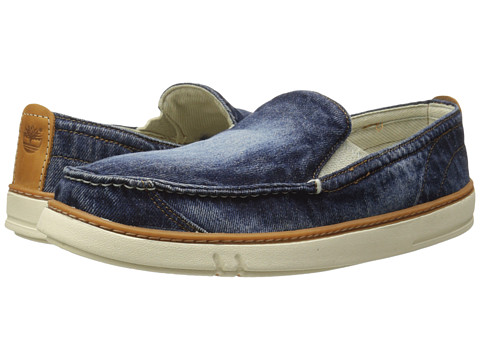 Timberland - Earthkeepers Hookset Handcrafted Fabric Slip-On (Blue Washed Denim) Men's Shoes