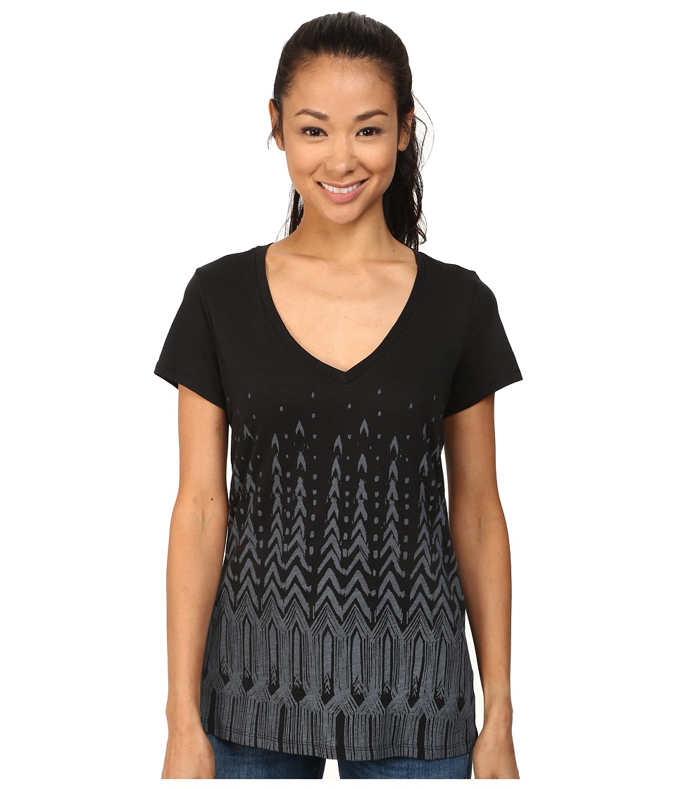 Columbia - Faded Chevron V-Neck Tee (Black Discharge) Women's T Shirt