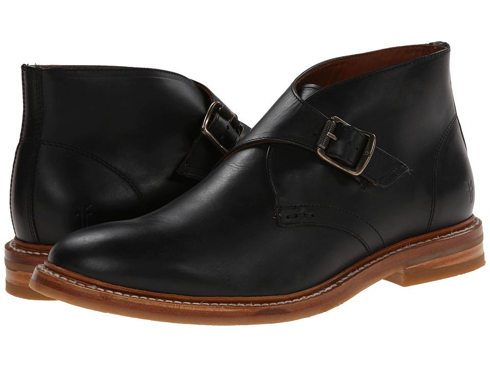 Frye - William Monk Chukka (Black Smooth Full Grain) Men's Dress Pull-on Boots