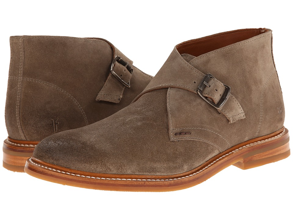 Frye William Monk Chukka (Grey Oiled Suede) Men