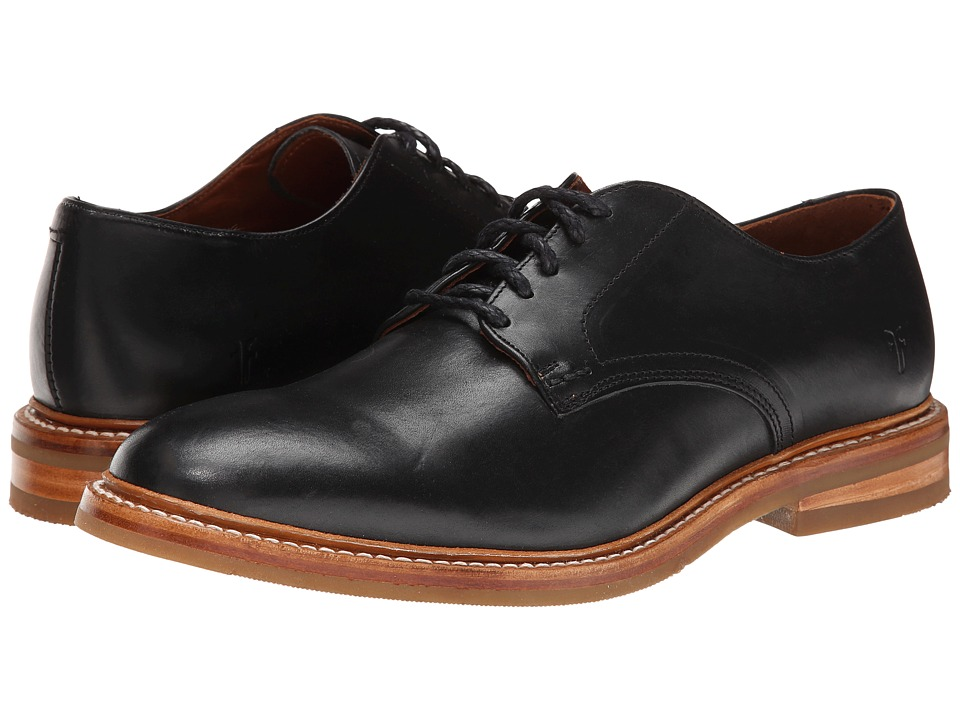 Frye William Oxford (Black Smooth Full Grain) Men