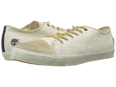 Timberland - Earthkeepers Glastenbury Canvas/Leather Oxford (Natural Linen) Men