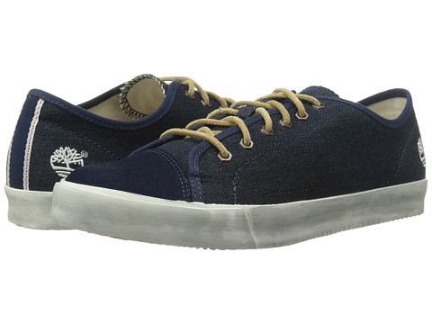 Timberland - Earthkeepers Glastenbury Canvas/Leather Oxford (Navy Denim) Men's Shoes