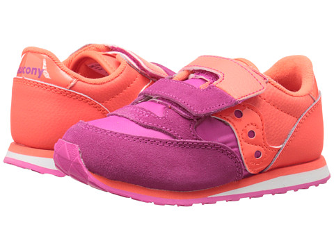 Saucony Kids - Baby Jazz HL (Toddler/Little Kid) (Pink/Orange) Girls Shoes