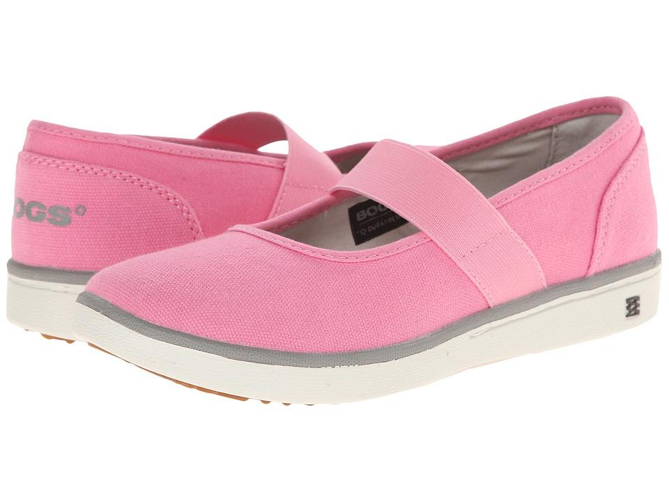 Bogs Kids - Malibu Canvas Mary Jane (Little Kid/Big Kid) (Bubble Gum Pink) Girls Shoes