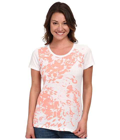 Columbia - Flawless Floral Crew Neck Tee (White) Women's T Shirt
