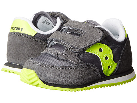 Saucony Kids - Baby Jazz Crib (Infant) (Grey/Citron) Boys Shoes