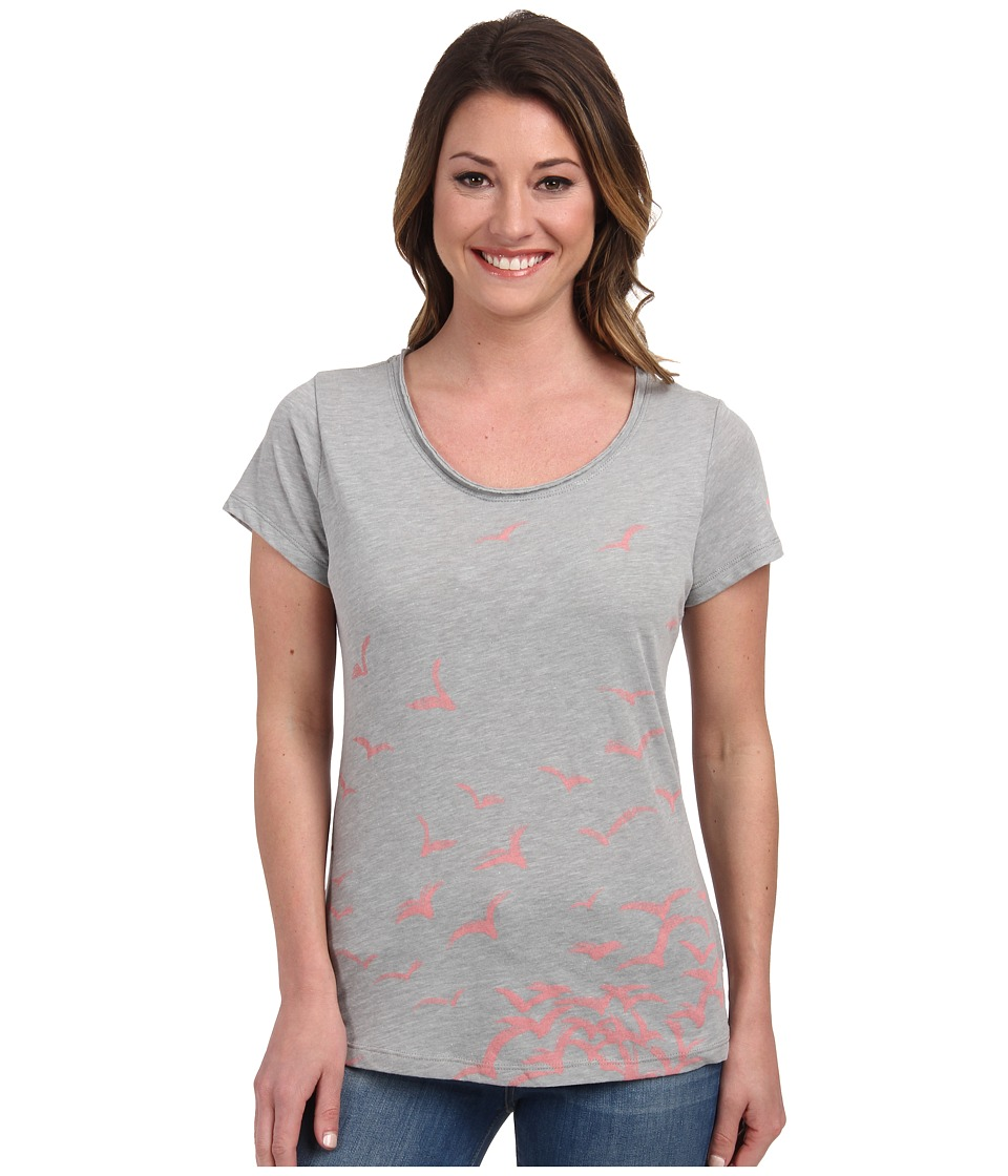 Columbia - Full Flight Scoop Neck Tee (Grey Heather/Birds) Women's T Shirt