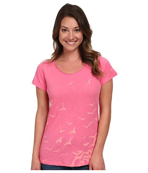 Columbia - Full Flight Scoop Neck Tee (Tropic Pink/Birds) Women's T Shirt