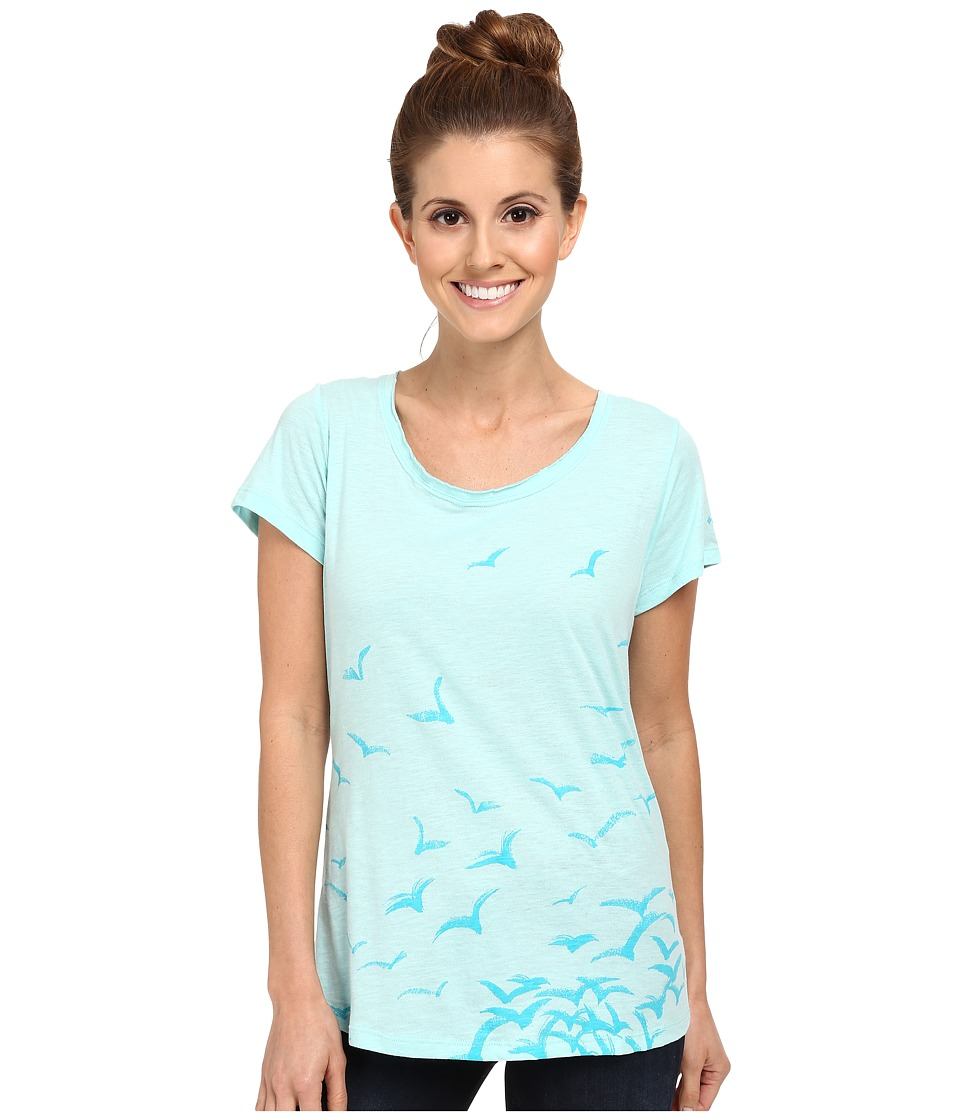 Columbia - Full Flight Scoop Neck Tee (Candy Mint/Birds) Women