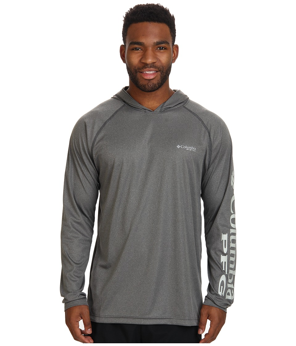 Columbia - Terminal Tackle Hoodie (Charcoal Grey Heather/Cool Grey Logo) Men's Sweatshirt