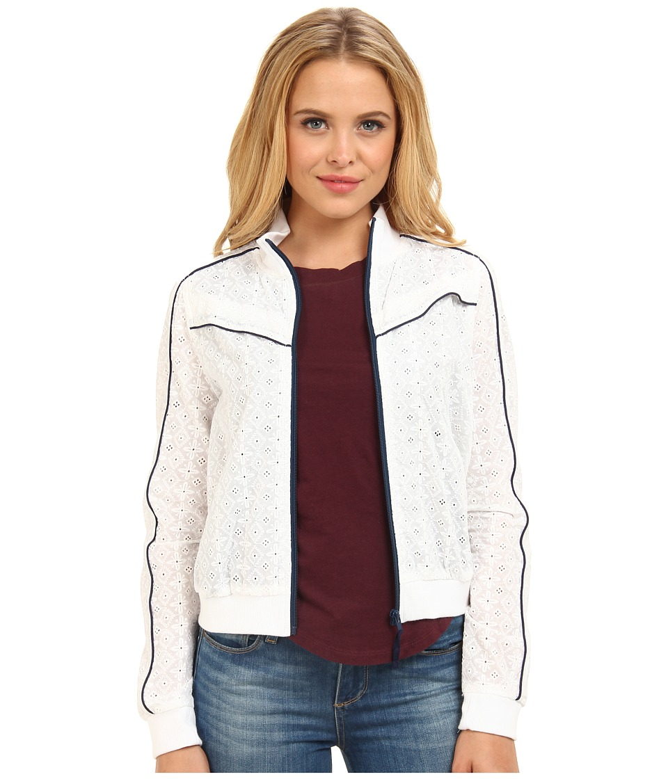 Free People - Eyelet Track Jacket (Ivory Combo) Women's Coat