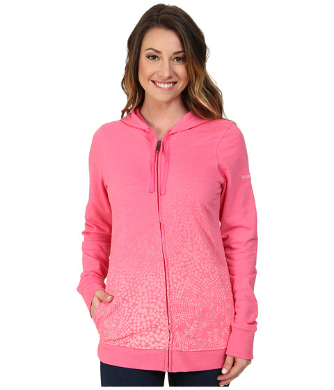Columbia - Spotted Ombre Full-Zip Hoodie (Tropic Pink) Women's Sweatshirt
