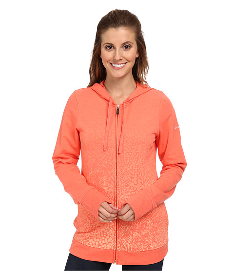 Columbia - Spotted Ombre Full-Zip Hoodie (Coral Flame) Women's Sweatshirt