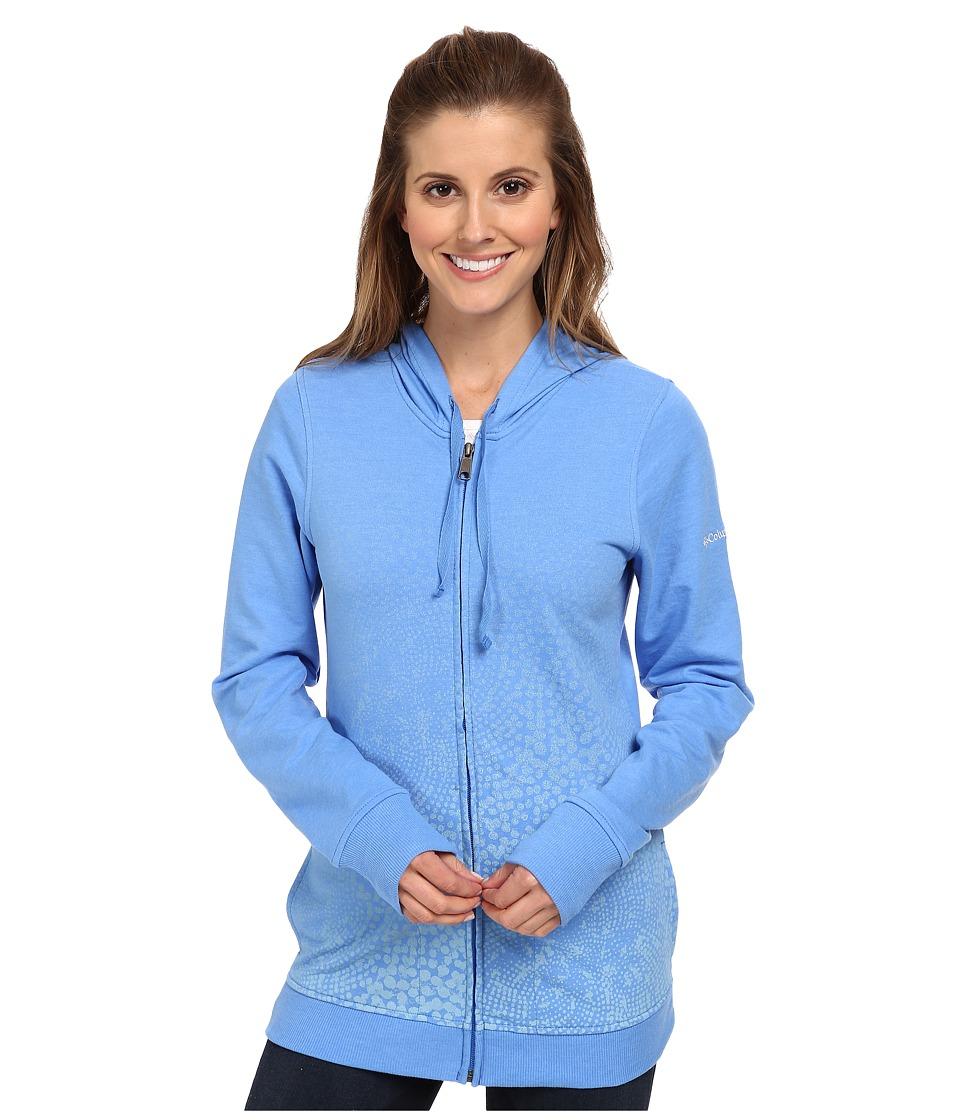 Columbia - Spotted Ombre Full-Zip Hoodie (Harbor Blue) Women's Sweatshirt