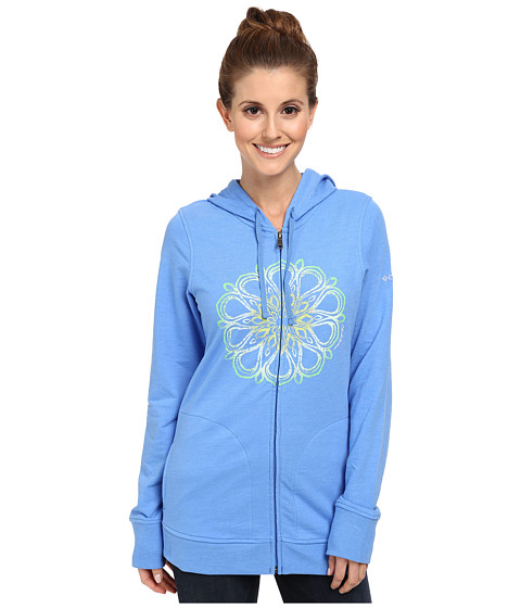 Columbia - Flowery Daze Full-Zip Hoodie (Harbor Blue) Women's Sweatshirt