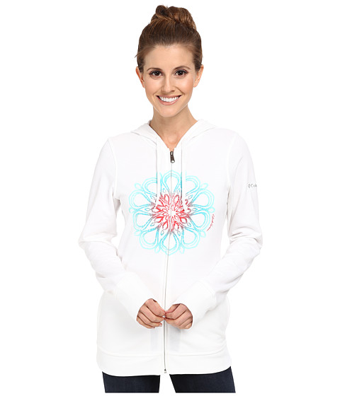 Columbia - Flowery Daze Full-Zip Hoodie (White) Women